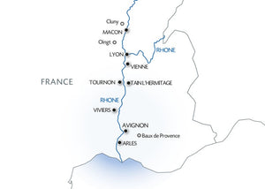 From Burgundy to the Camargue along the Saône and the Rhône Rivers (port-to-port cruise)