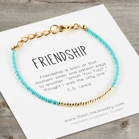 Minimalist Gold Friendship Bracelet