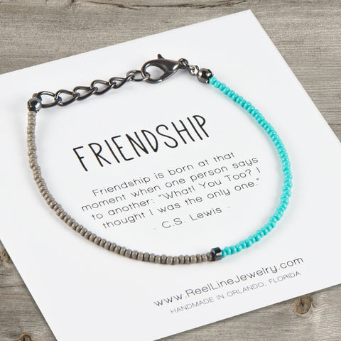Split Color Minimalist Friendship Bracelet