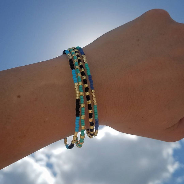 Choose Your Message: Sea Paradise Bracelet