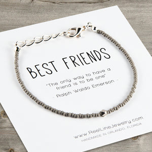 Geometric Minimalist Best Friends Bracelet