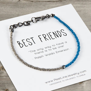 Split Color Minimalist Best Friends Bracelet