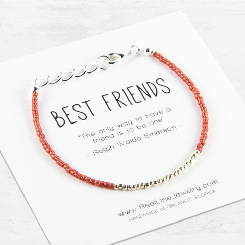 Minimalist Silver Best Friends Bracelet