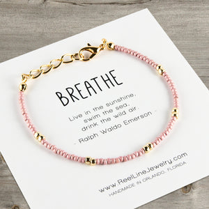Boho Gold Breathe Bracelet