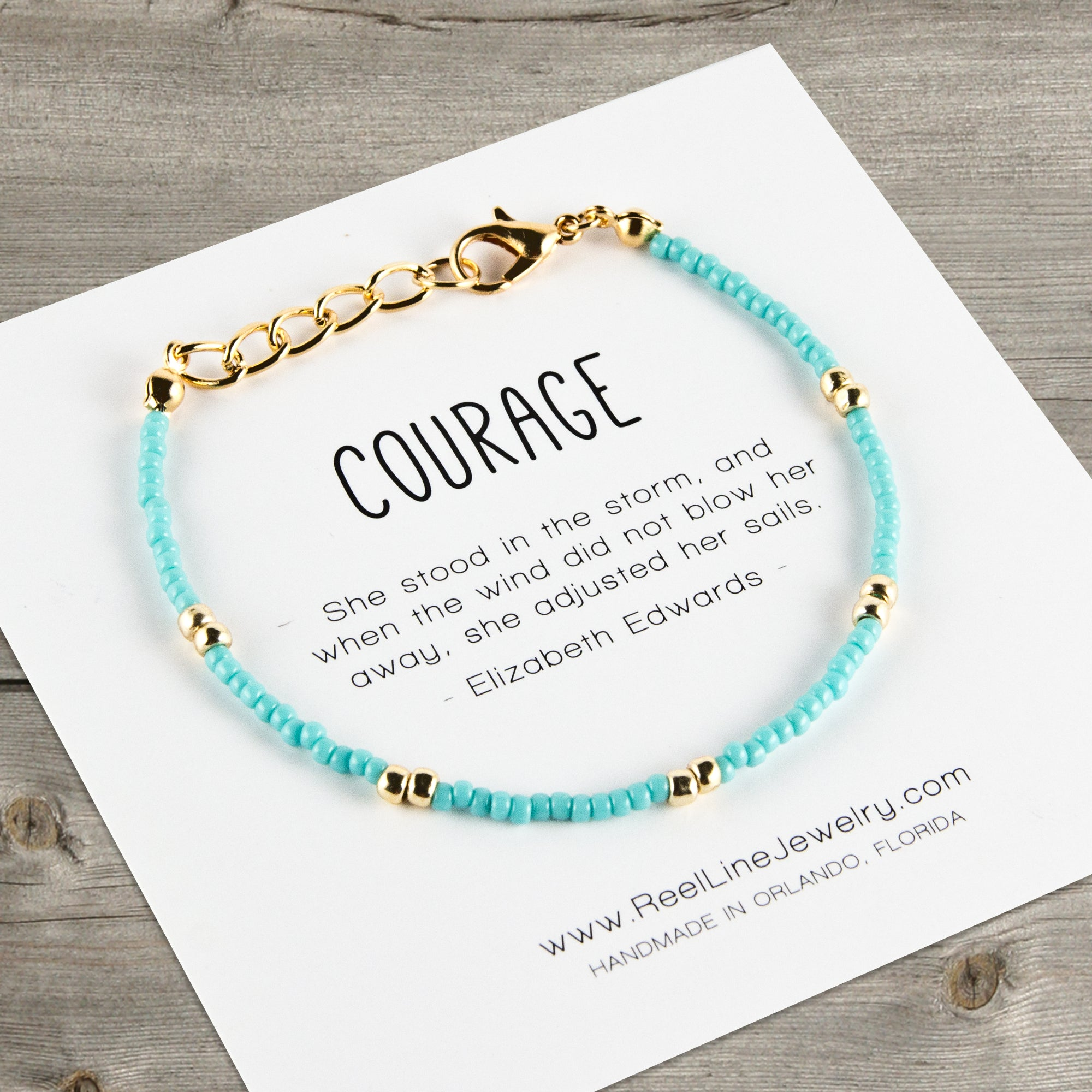 Boho Gold Courage Bracelet