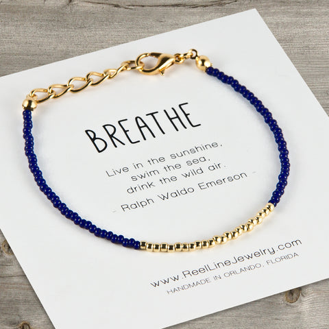 Minimalist Gold Breathe Bracelet