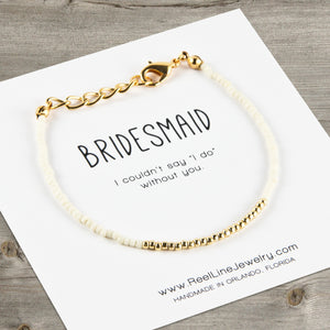 Minimalist Gold Bridesmaid Bracelet
