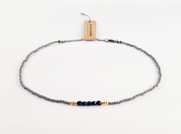 Black Ellipse Necklace