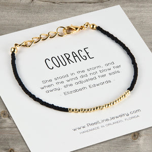 Minimalist Gold Courage Bracelet