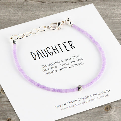 Geometric Minimalist Daughter Bracelet