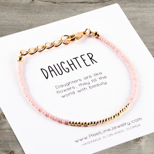 Minimalist Gold Daughter Bracelet