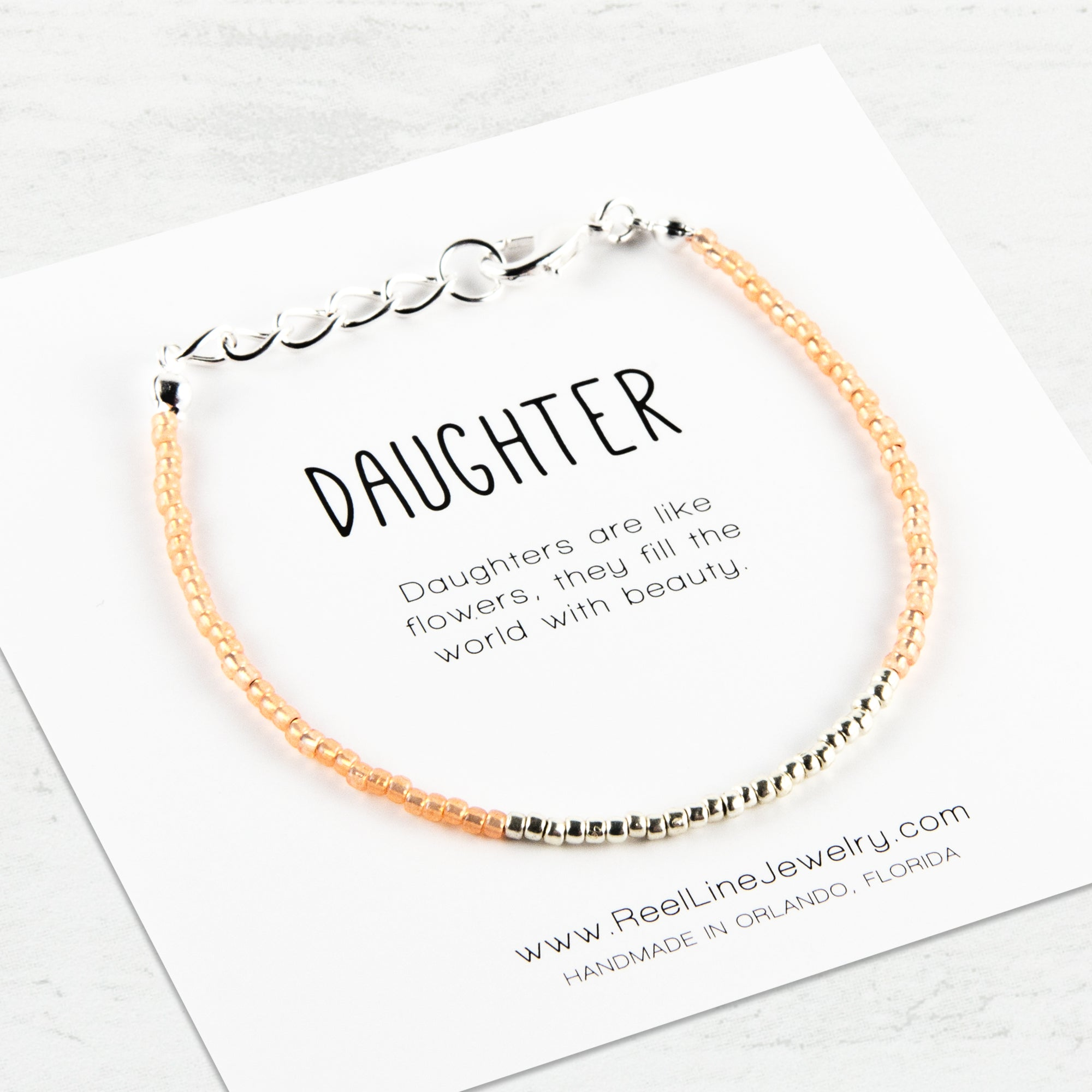 Minimalist Silver Daughter Bracelet