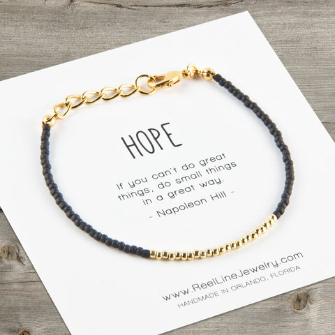 Minimalist Gold Hope Bracelet
