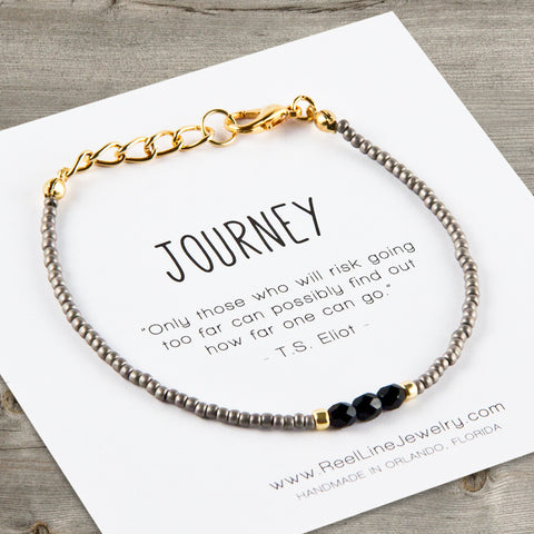 Choose Your Message: Black & Gold Bracelet