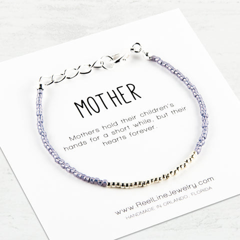 Minimalist Silver Mother Bracelet