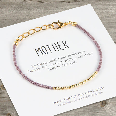 Minimalist Gold Mother Bracelet