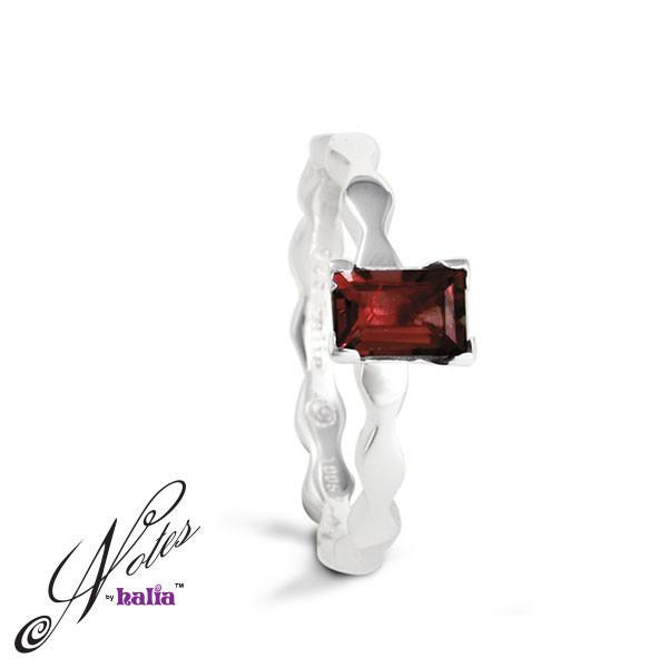 Regal Lace Garnet Stacking Ring - Metalsmiths Sterling‰̣ۡå¢ Canada