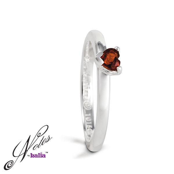 Hopeless Romantic Stacking Ring Set - Garnet, Amethyst, Cubic - Metalsmiths Sterling䋢 Canada