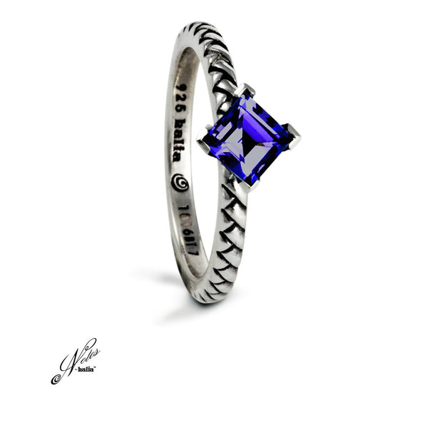 Mermaid Tail Stacking Ring - Amethyst, Blue Topaz