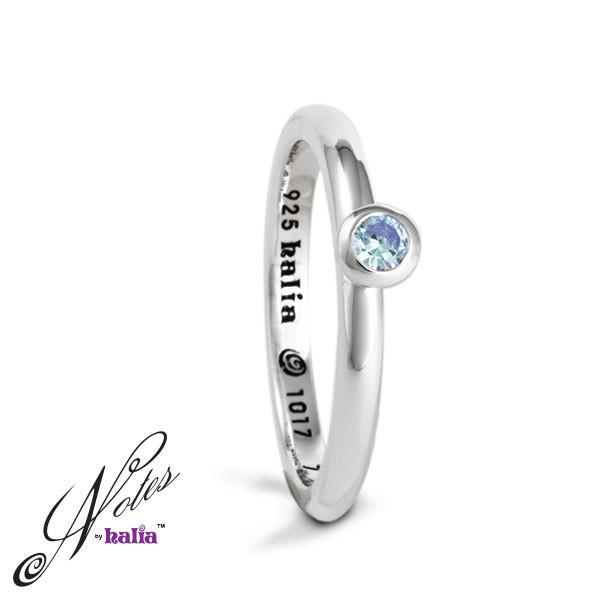 Blue Topaz Debutante Dazzle Stacking Ring Sterling Silver Notes by Halia