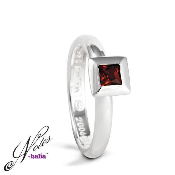 Shopping Spree Stacking Ring - Garnet, Cubic - Metalsmiths Sterling‰̣ۡå¢ Canada
