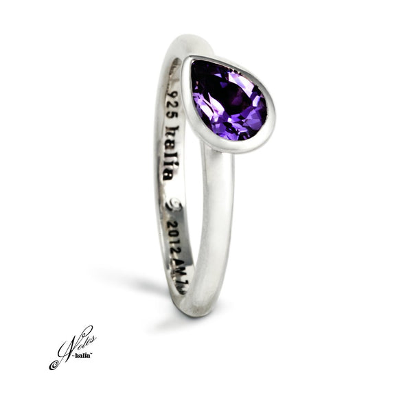 Petal to the Metal Stacking Ring - Amethyst