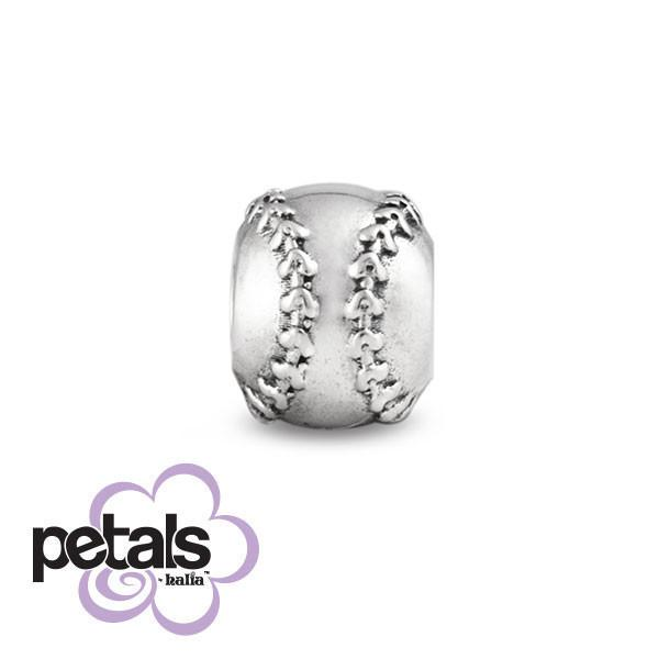 Softball Champ -  Petals Sterling Silver Charm