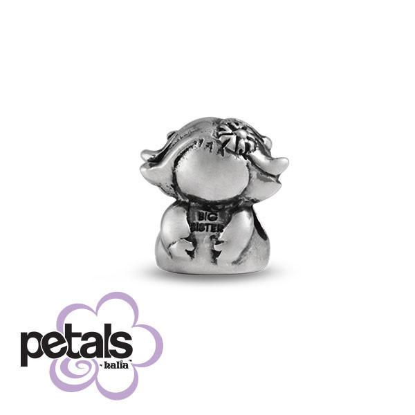 Big Sis Knows Best -  Petals Sterling Silver Charm
