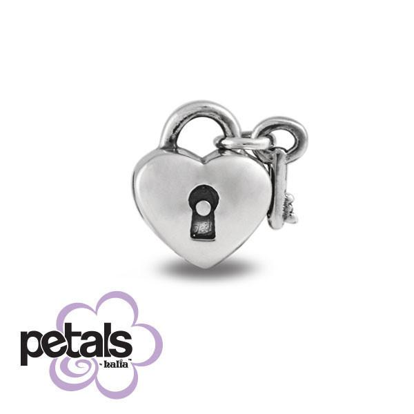 You Hold the Key -  Petals Sterling Silver Charm