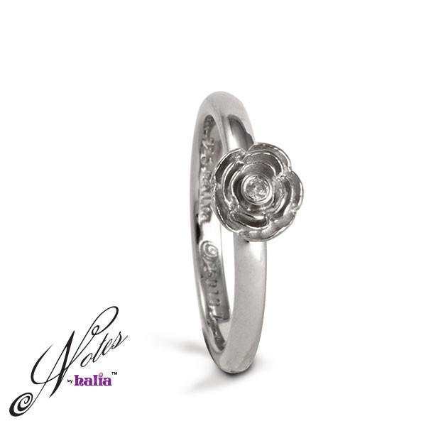 Rose Parade Diamond Stacking Ring - Metalsmiths Sterling‰̣ۡå¢ Canada