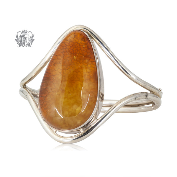 Large Baltic Amber Bangle