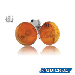 Amber Stud Earrings - Quick Ship