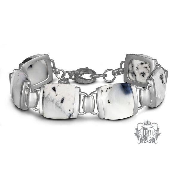 Cushion Set Dendritic Agate Bracelet - Metalsmiths Sterling™ Canada