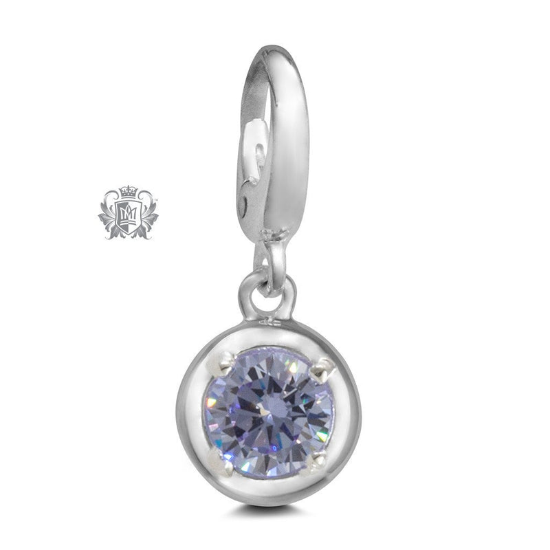 Birthstone Charm - 12 Colours Available - June/Alexandrite CZ Charm - 7