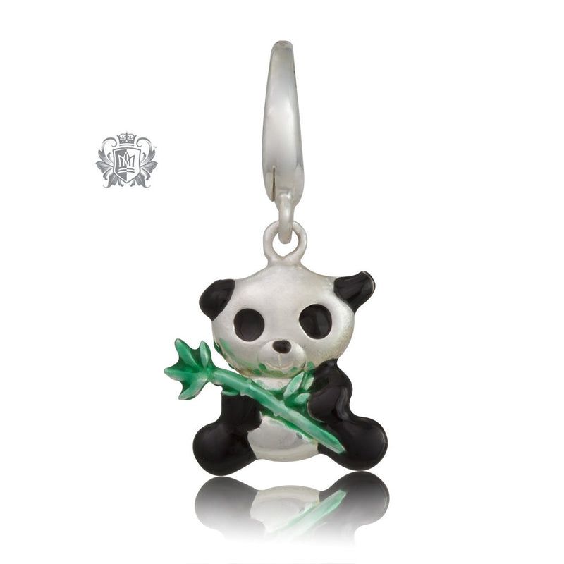 Panda Charm with Enamel - Metalsmiths Sterling Silver