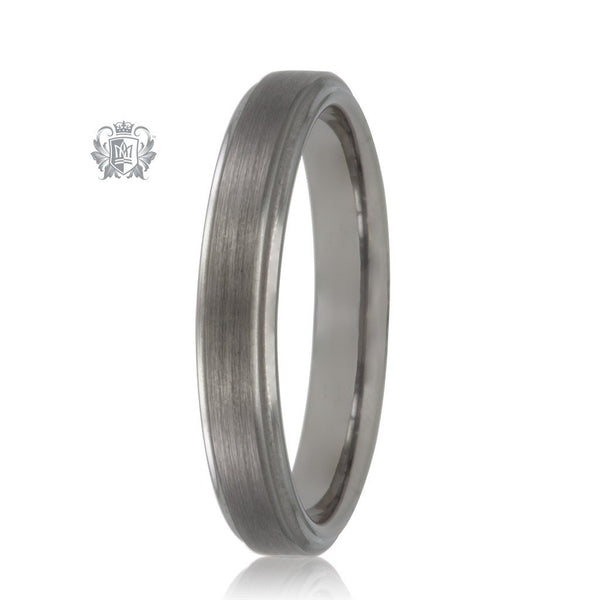 Metalsmiths Sterling Tungsten Dual Texture Band (Hers)