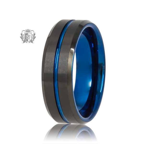 Black/Blue Tungsten Channel Band