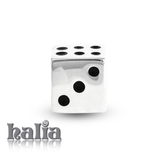 Lucky Dice -  Sterling Silver Bead