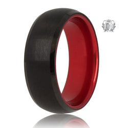 Black/Red Tungsten Bright Inside Band - SAMPLE