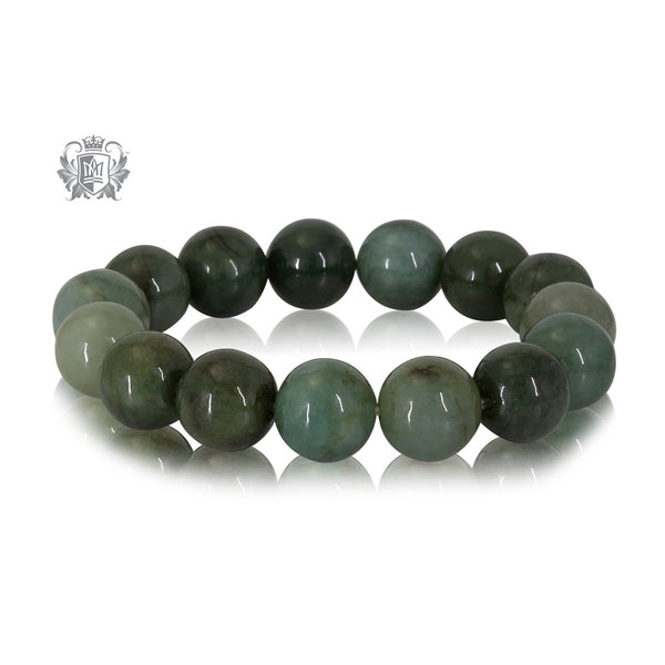 dark green jade bead bracelet