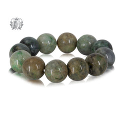 Large Green Jade Bead Bracelet