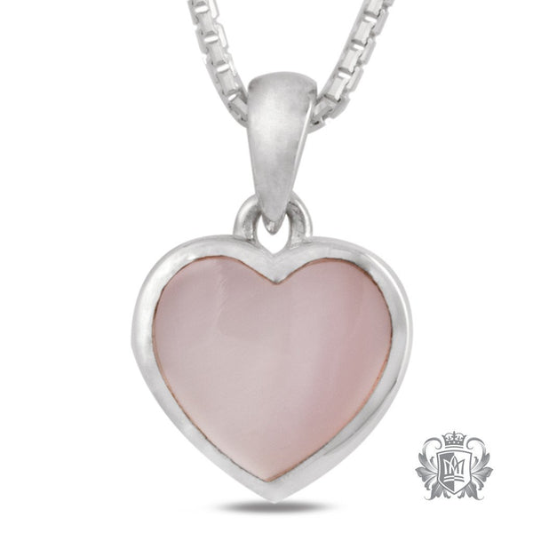 Metalsmiths Sterling Silver Pink Mother of Pearl Heart Pendant