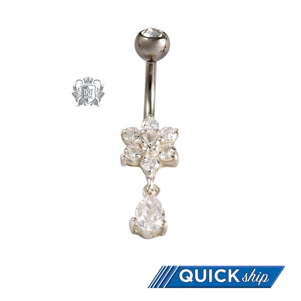 Dangling Flower Belly Ring