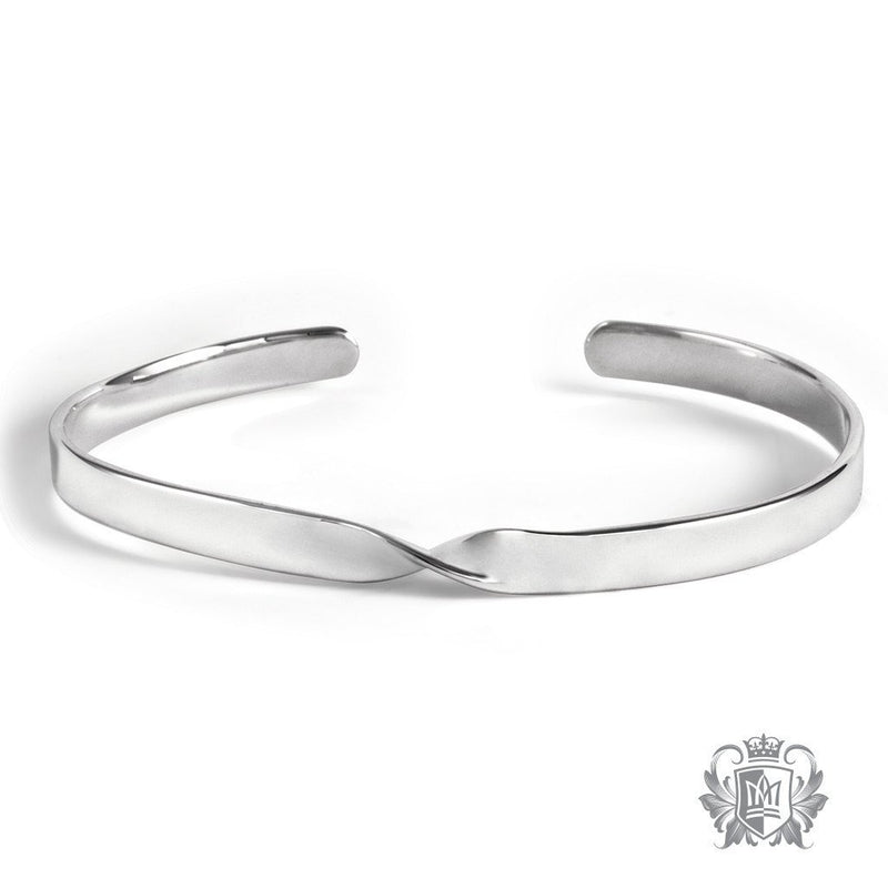 Single Twist Cuff Metalsmiths Sterling Silver Front