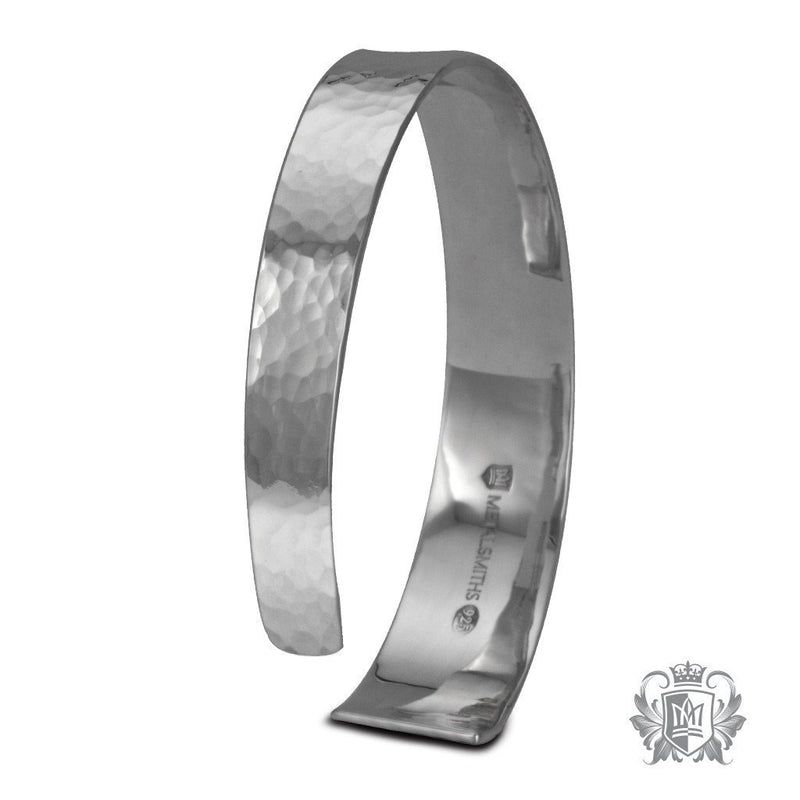 Tapered Hand Hammered Cuff - Metalsmiths Sterling'Ñ¢ Canada