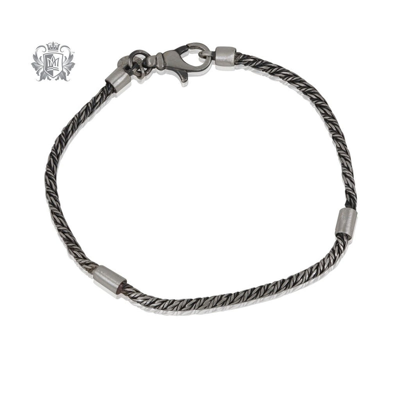 Street Finish Twisted Rover Double Barrel Bracelet