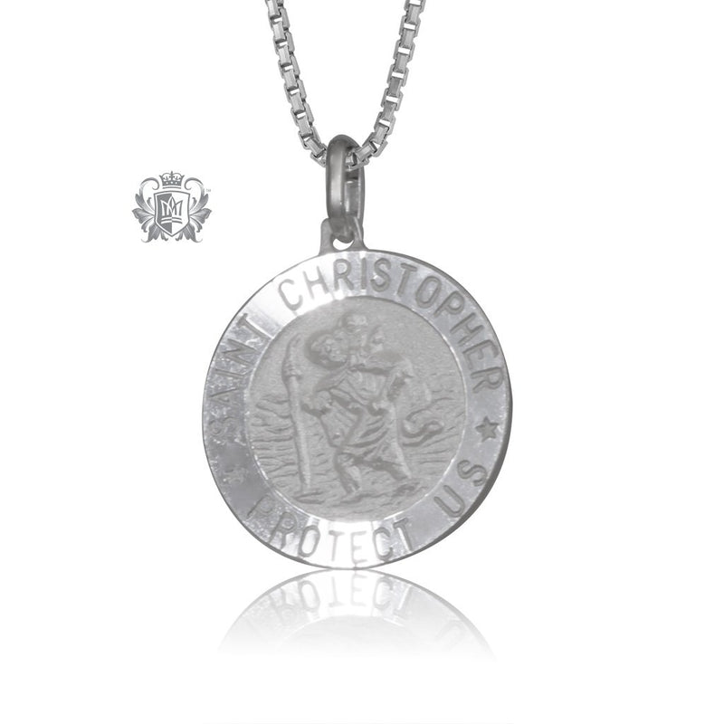 Saint Christopher Medallion - Large With Chain (Not Included)