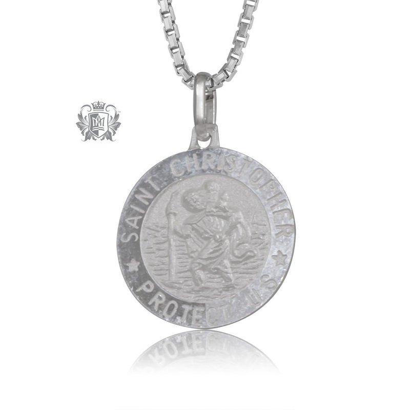 Saint Christopher Medallion with Chain (not included)