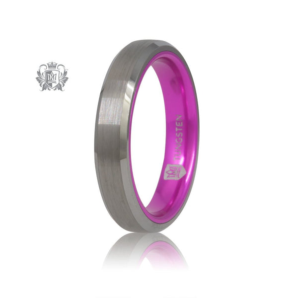 Grey/Pink Tungsten Bright Inside Band