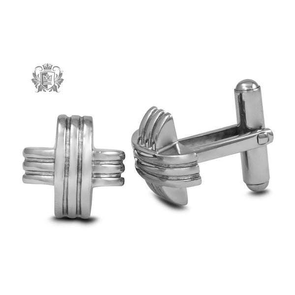 Stainless Steel Modern X Cufflinks - Metalsmiths Sterling™ Canada